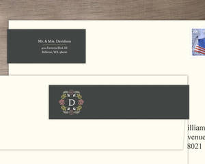 Garden Blossoms Wedding Address Label