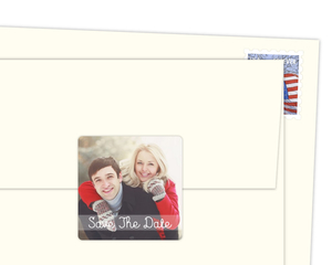 Save The Date Personal Photo Envelope Seal