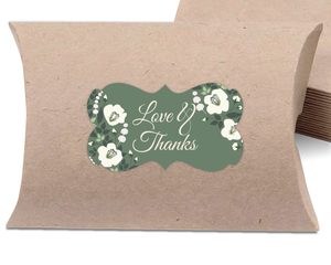 Greenery Floral Wedding Favor Label