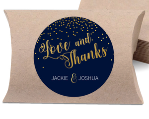 Faux Foil Midnight Stars Wedding Favor Label