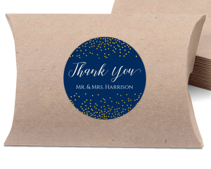 Faux Gold Foil Sprinkle Favor Label