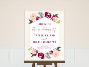 Floral Boho Wedding Welcome Poster