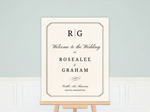 Traditional Double Frame Wedding Welcome Poster