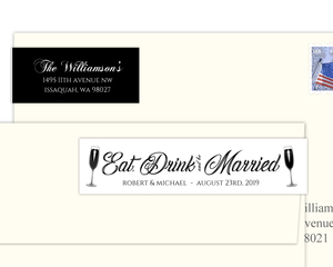 Elegant Black Tie Custom Address Label