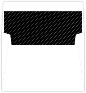 Simple Black Stripes Envelope Liner
