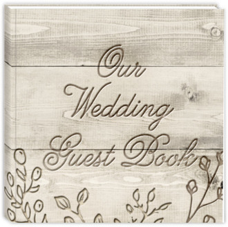 Rustic Wood Carving Wedding Guest Book