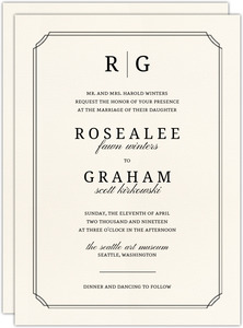 Traditional Double Frame Wedding Invitation