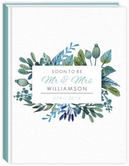 Watercolor Foliage Frame Wedding Planner 6x8