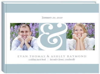 Modern Photo & Ampersand Wedding Guest Book