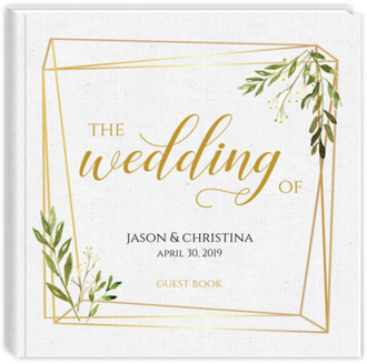 Multiple Frame Greenery Wedding Guest Book