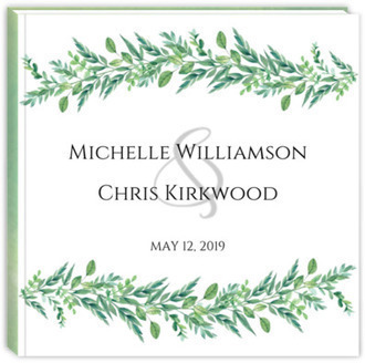 Foliage Garland Wedding Guest Book