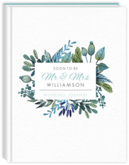 Turquoise Foliage Wedding Journal