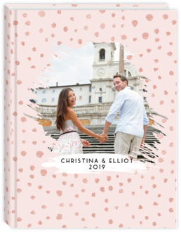 Pink Spotted Cut Out Wedding Journal