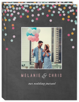 Chalkboard Colorful Confetti Wedding Journal