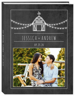Rustic Barn Chalkboard Wedding Planner