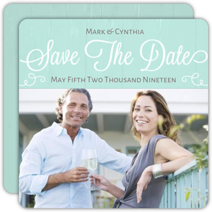 Mint Brown Save The Date Card
