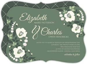 Greenery Floral Wedding Invitation