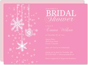 db33e685eeb Blushing Bride Pink Winter Bridal Shower Invitation