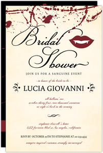 Vintage Vampire Bridal Shower Invitation