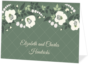 Greenery Floral Thank You Card