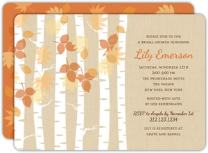 Autumn Birch Bridal Shower Invitation