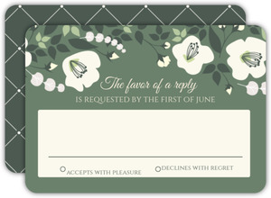 Greenery Floral Wedding Response Card