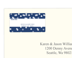 Blue Snowflake Address Label