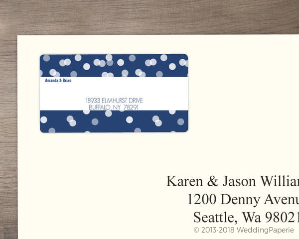 blue snowflake address label wedding address labels
