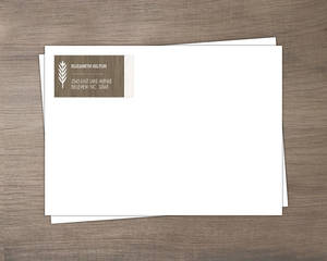 Wood Grain Rustic Return Address Envelope