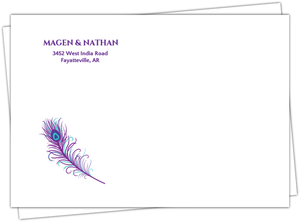 Elegant Peacock Wedding Address Envelope