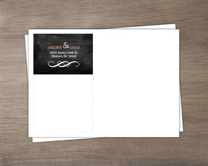 Peach Chalkboard Address Envelope