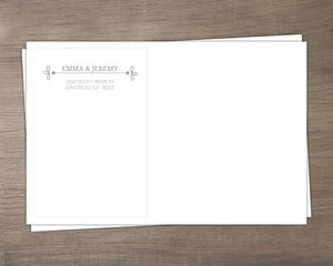 Gray Whimsical Address Envelope