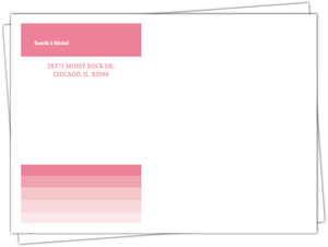 Pink Ombre Address Envelope