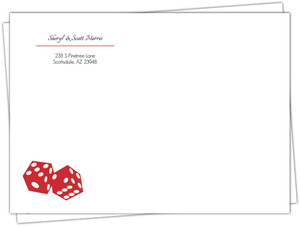 Lucky Love Red Dice Address Envelope