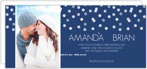 Blue Snowflake Wedding Invitation