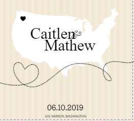 Cream and Black United States Map Save the Date