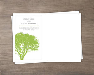 Modern Rustic Gray and White Tree Address Envelope