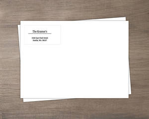 Black and White Address Label Envelope