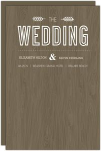 Wood Grain Rustic Wedding Program