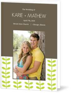 Green Spring Pattern Wedding (Set) Wedding Program