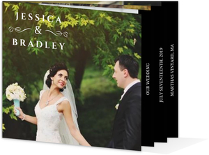 Formal Black and White Wedding Booklet Thank You