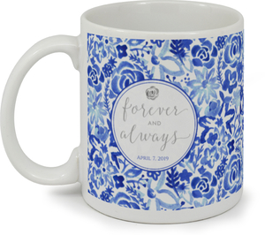 Blue Spring Pattern Custom Mug