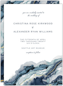 Modern Navy Ink Wedding invitation