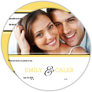 Classic Pale Yellow Wedding Invitation Circle