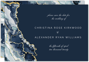 Modern Navy Ink Save the Date