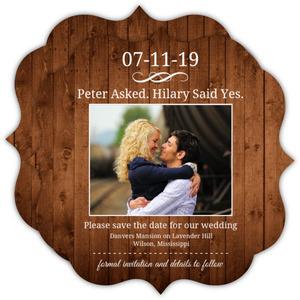 Simple Wood Texture Save The Date