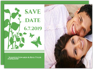 Green Garden Party Wedding Save the Date