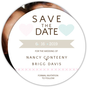 Two Hearts Whimsical Save the Date