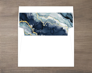 Modern Navy Ink Envelope Liner