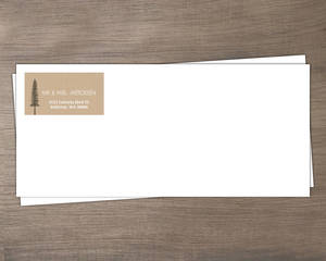 Rustic Pine Trees Custom Envelope